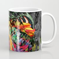 jazzberry Mugs featuring Just another day in the jungle by Donuts