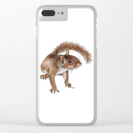 Twitchy-nosed Squirrel Clear iPhone Case