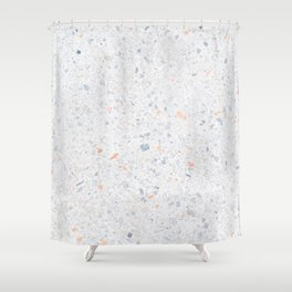 Natural Terrazzo Stone Stucture Pattern Pastel Shower Curtain