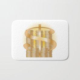 Piles of Coins Bath Mat