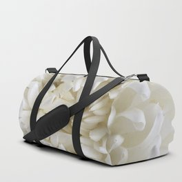 White Chrysanthemum Duffle Bag