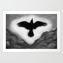 Flight of the Crow Art Print