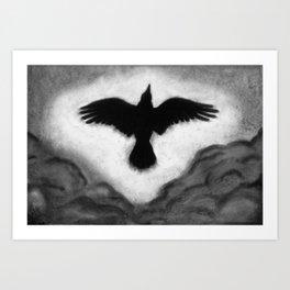 Flight of the Crow Art Print