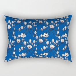 Magnolia blue floral Rectangular Pillow