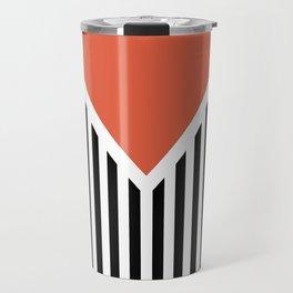 Orange triangle Travel Mug