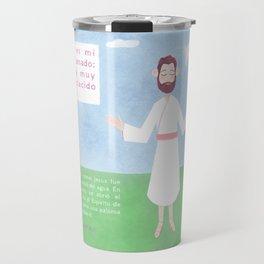 Mateo 3:16-17 Travel Mug