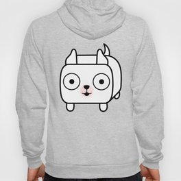 Pitbull Loaf - White Pit Bull with Cropped Ears Hoody