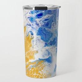 Abstract Pacific Ocean Travel Mug
