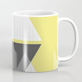 Miminalist Black and White Triangles Abstract Coffee Mug