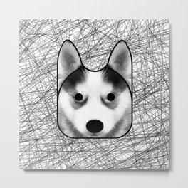 Husky dog Metal Print