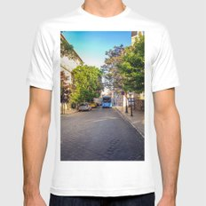 BUS IN BUDAPEST White MEDIUM Mens Fitted Tee