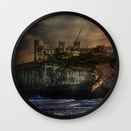 Storm Front On The Seafront Wall Clock