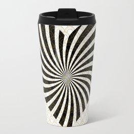 Gold Black White Great Gatsby Heart Travel Mug