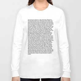Sign of the Times (Lyrics) Long Sleeve T-shirt