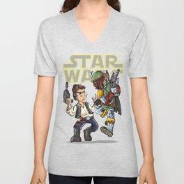 Star Wars - Han Solo x Bobba Fett Unisex V-Neck