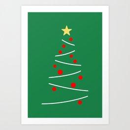 Minimal Christmas Tree Art Print