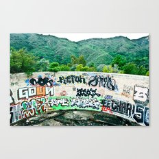 Pit In The Canyon Canvas Print