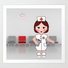 Jobs serie: the nurse Art Print