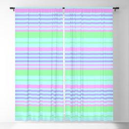 Decorative Horizontal Stripes Blackout Curtain