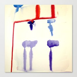 watercolor drips Canvas Print