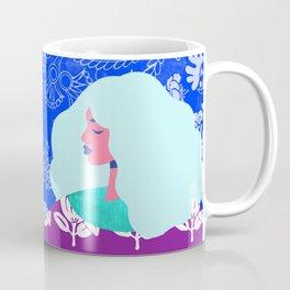 Blue Wallpaper Girl Coffee Mug