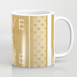 love is love gold hearts pattern Coffee Mug