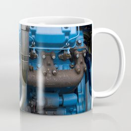 Blue Tractor Motor Coffee Mug