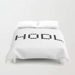 HODL YOUR CRYPTOCURRENCY BITCOIN LITECOIN RIPPLE ETHEREUM Duvet Cover