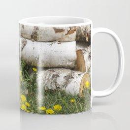 Dead Birch Tree And Living Dandelion Coffee Mug