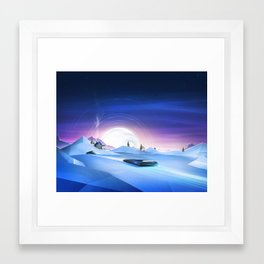 Cold Chase Framed Art Print