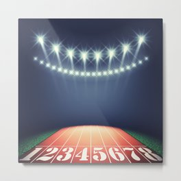 Track and field stadium Metal Print