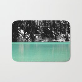 Green Water, Black and White Bath Mat