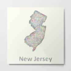 New Jersey map Metal Print