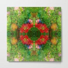 Floral Frenzy Metal Print