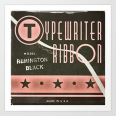 Typewriter Ribbon Art Print