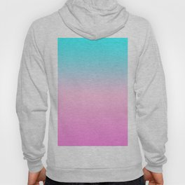 Simple modern summer beach bright teal pink ombre gradient pattern Hoody