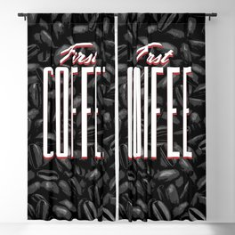 First COFFEE Blackout Curtain