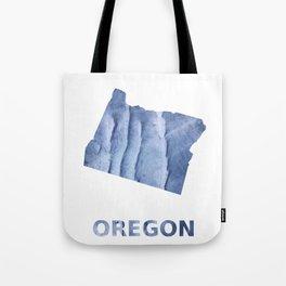 Oregon map outline Blue watercolor Tote Bag