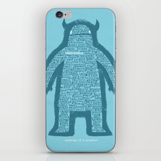 Anatomy of a Monster iPhone & iPod Skin