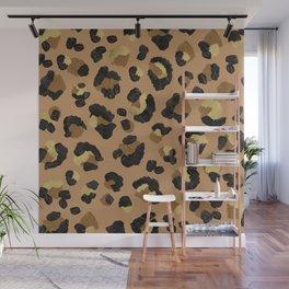 Leopard Print – Neutral & Gold Palette Wall Mural