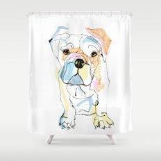 Bulldog Colour Shower Curtain