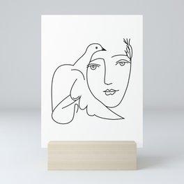 Picasso Dove Peace Women Mini Art Print