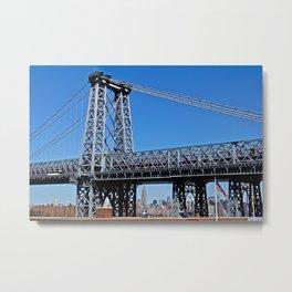 Williamsburg Bridge view Metal Print