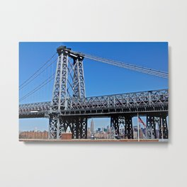 Williamsburg Bridge view Metal Print