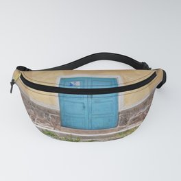 Bolivia door 7 blue on yellow Fanny Pack