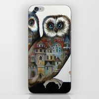 medieval iPhone & iPod Skins featuring medieval owls by oxana zaika
