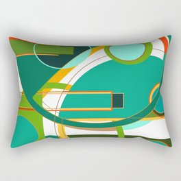 D is for Deco: Abstract Art Deco Font Typography Rectangular Pillow