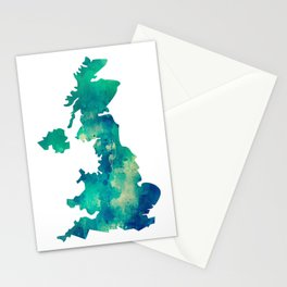 Green England Stationery Cards