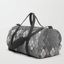 Mermaid Scales Silver Gray Glitter Glam #1 #shiny #decor #art #society6 Duffle Bag