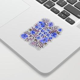 F*ck It – Blueberry Palette Sticker